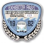 Aged Vintage 1962 Dated Car Show Exhibitor Pass Design Vinyl Car sticker decal  89x87mm